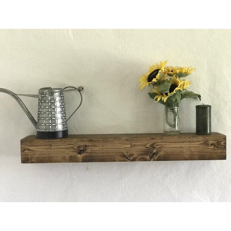 Oldfield Reclaimed Wood Floating Shelf by Gracie Oaks