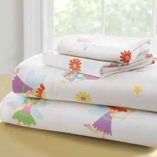 Olive Kids Fairy Princess 205 Thread Count 100% Cotton Sheet Set