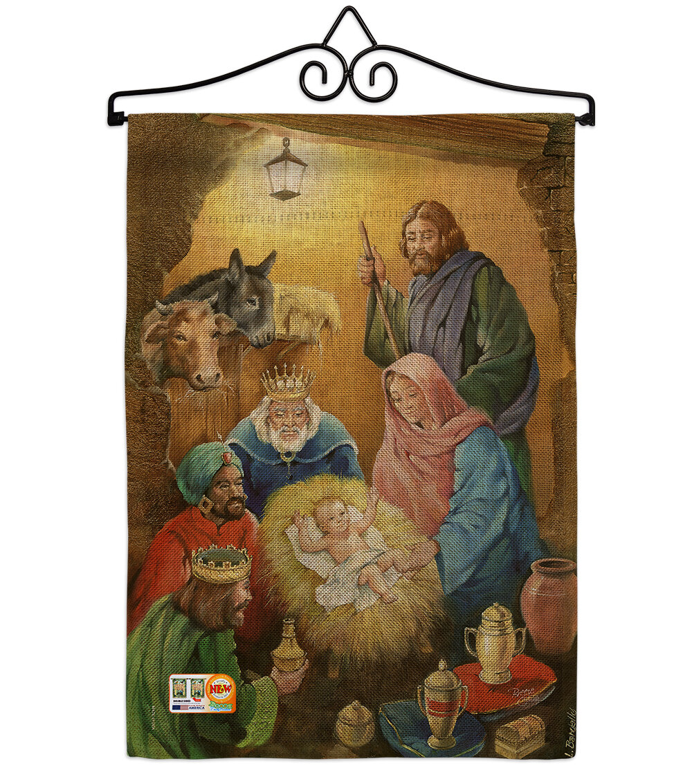 Breeze Decor Wise Men Winter Nativity Impressions 2 Sided Polyester 19 X 13 In Garden Flag Wayfair