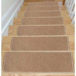 carpet stair treads. escalier skid-resistant rubber backing non-slip carpet dark beige stair tread treads s