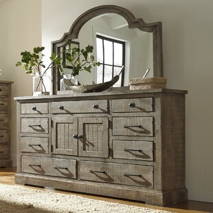 Arthurs 9 Drawer Combo Dresser with Mirror by Lark Manor