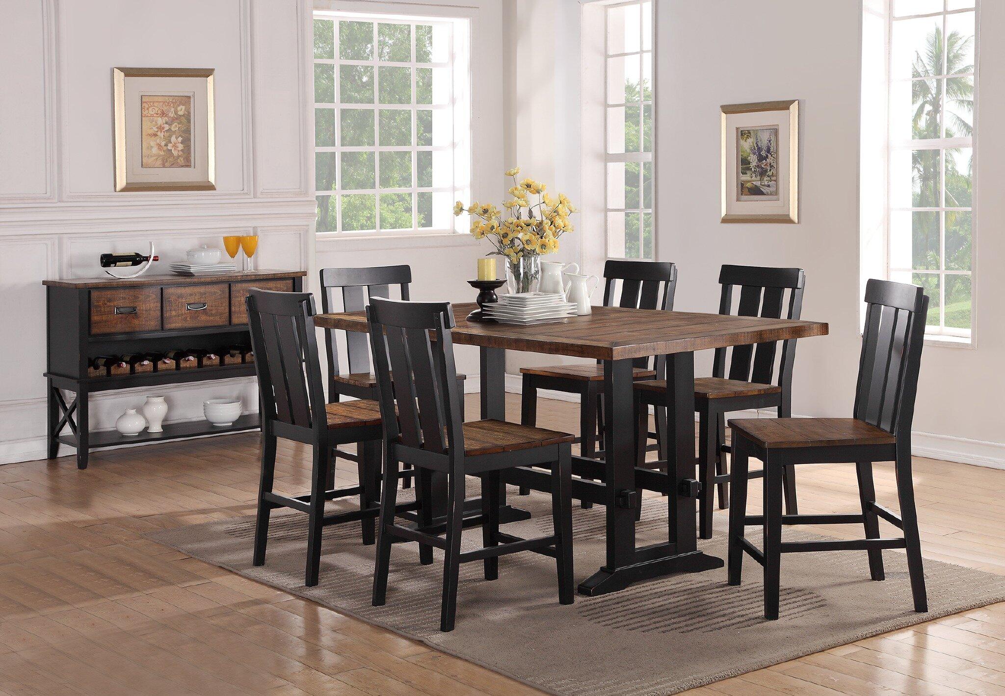Gracie Oaks Goodman 7 Piece Counter Height Dining Set U0026 Reviews   Wayfair