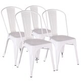 Murrell Metal Slat Back Side Chair (Set of 4) by Ivy Bronx