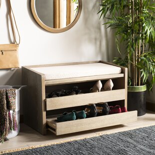 Gunter Wood Storage Bench by Rebrilliant