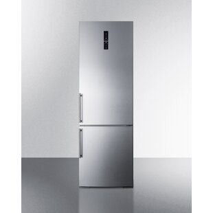 Summit Built-In 11.6 cu. ft. Bottom Freezer Refrigerator with Icemaker