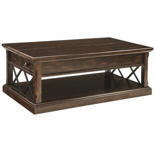 Brookville Floor Shelf Coffee Table With Storage By Loon Peak