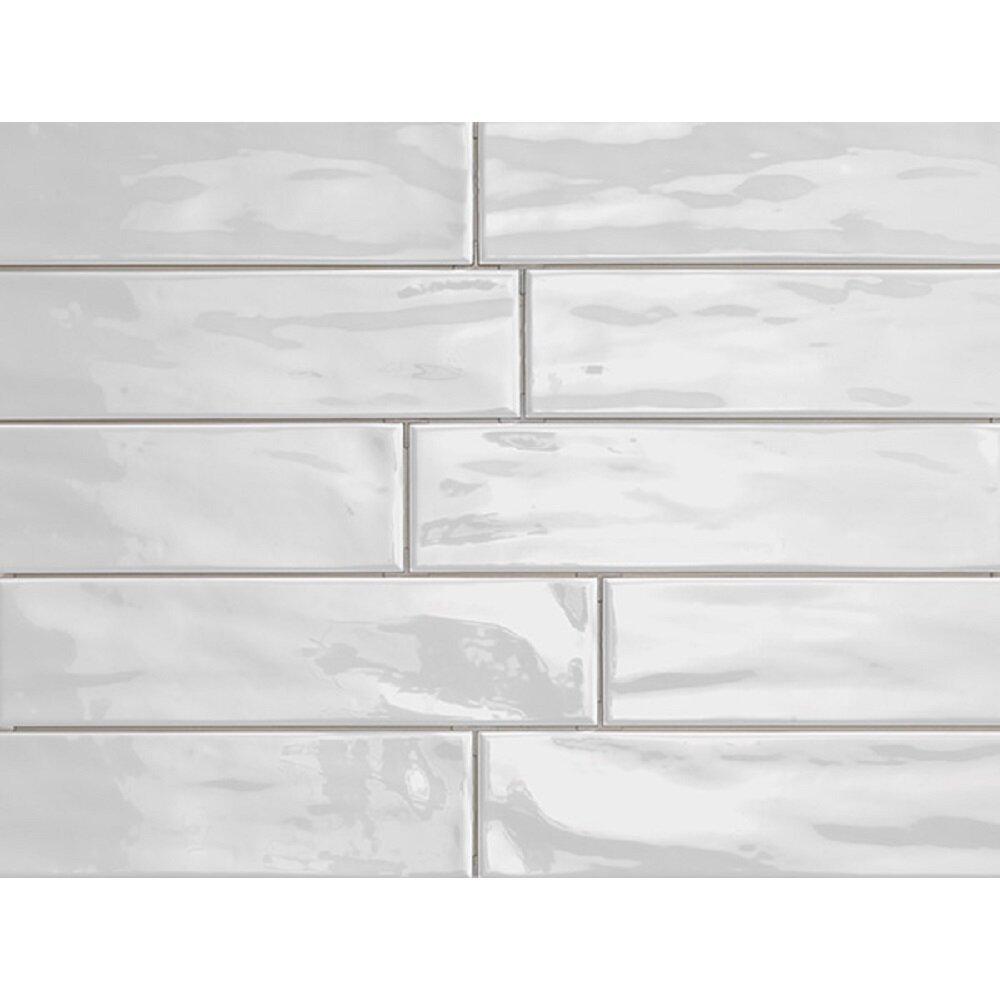 Travistilesales Organic Brick 3 X 12 Porcelain Subway Tile In Ice