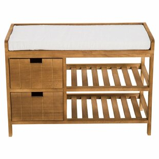 Zeke 2 Tier Wooden Shoe Storage Bench By House Of Hampton