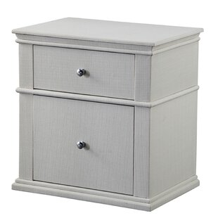 Maner Upholstered 2 Drawer Nightstand