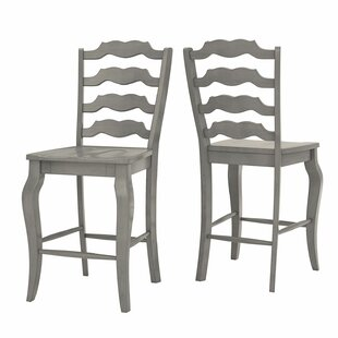 Check Prices Oakpark French 24.21 Bar Stool (Set of 2) by Alcott Hill Reviews (2019) & Buyer's Guide