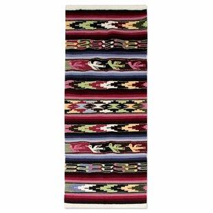 Affordable Hand Woven Black/Burgundy Area Rug By Novica