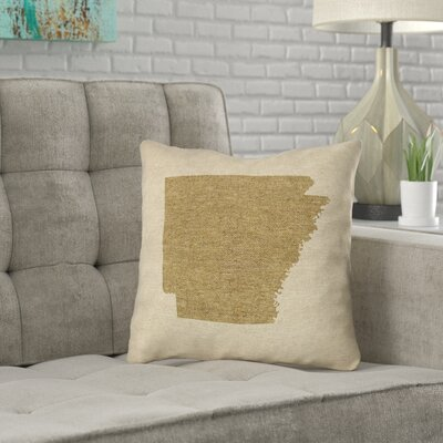 Ivy Bronx Austrinus Arkansas Canvas In Cotton Twill Double Sided Print Throw Pillow Ivy Bronx Size 16 X 16 Color Gold From Wayfair North America Daily Mail