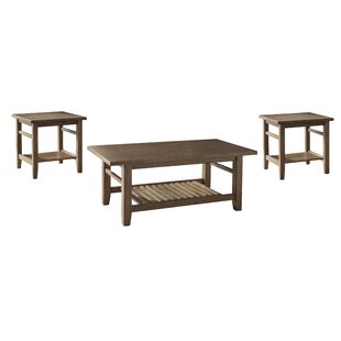 Avalon 3 Piece Coffee Table Set World Menagerie