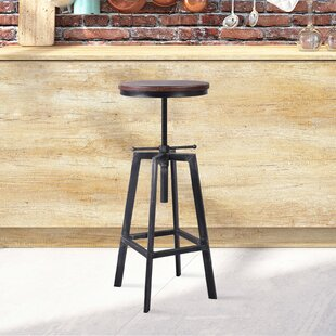 Boyland Adjustable Height Swivel Bar Stool by Williston Forge