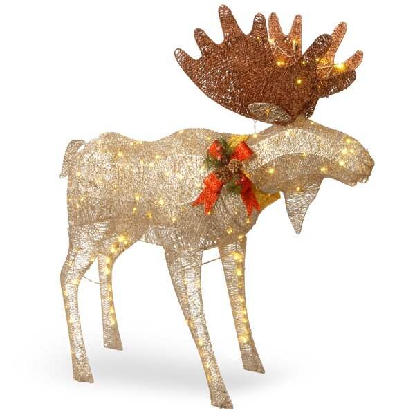 the holiday aisle moose decoration figurine reviews wayfair - Outdoor Moose Christmas Decorations
