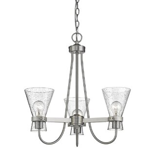 Best Reviews Amelie 3-Light Shaded Chandelier By Highland Dunes