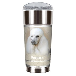 Howard Robinson's Poodle 24 oz. Stainless Steel Travel Tumbler