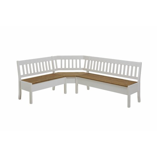 Garstang Wood Storage Bench August Grove Colour: White/Yello