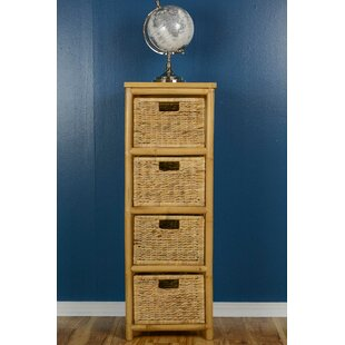 Elim 4 Drawer Bamboo Accent Chest by Bay Isle Home