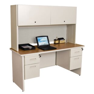 Crivello Double File Computer Desk With Hutch by Red Barrel Studio Wonderful