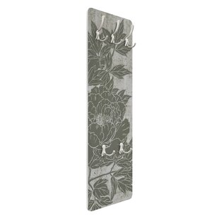 Flowering Peony I Wall Mounted Coat Rack By Symple Stuff