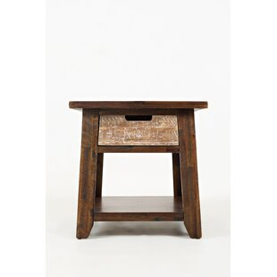Deandre Bottom Shelf End Table by Millwood Pines