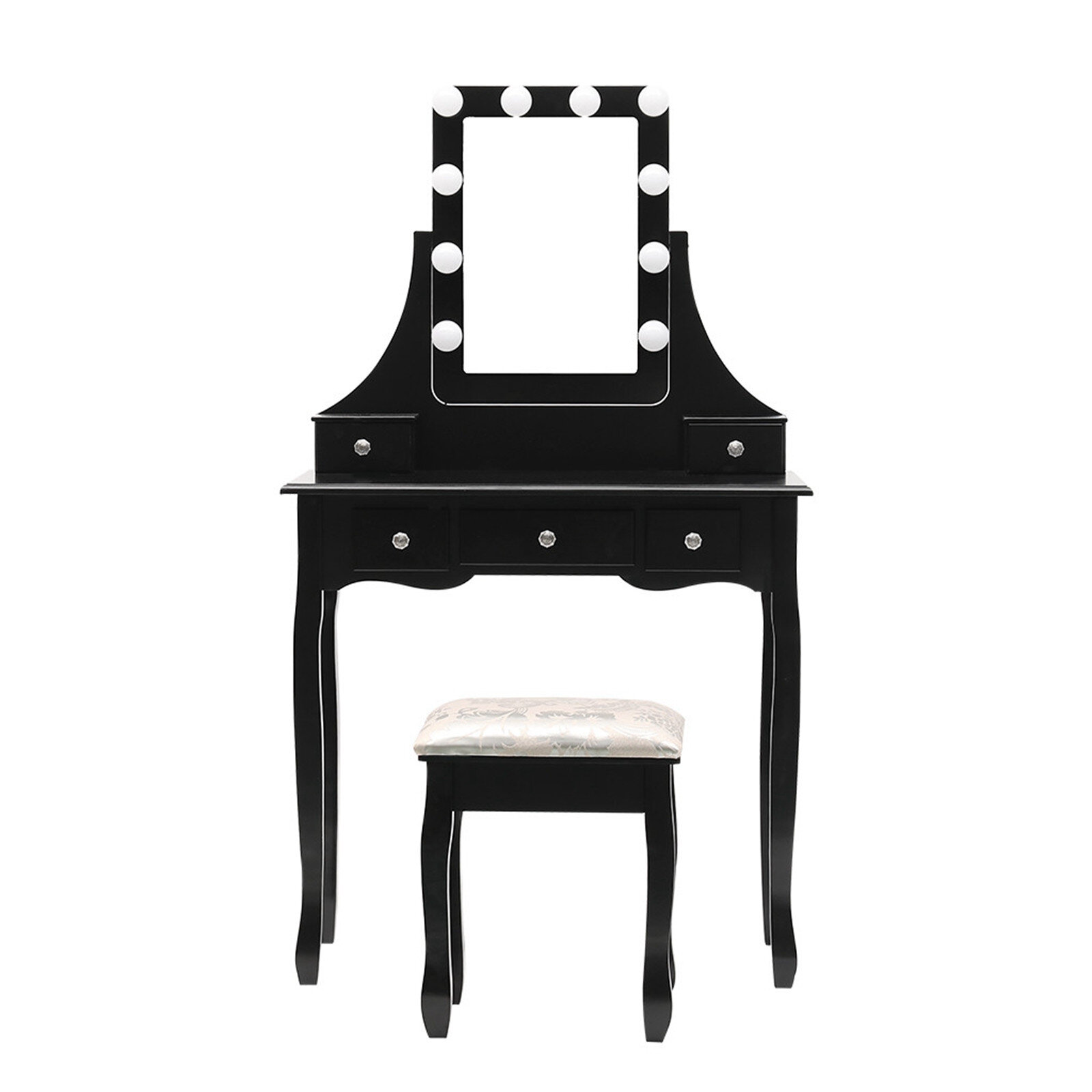 House Of Hampton Led Vanity Set With 10 Dimmable Light Bulbs Dressing Table Vanity Makeup Table 53 54x31 5x15 75 Wayfair