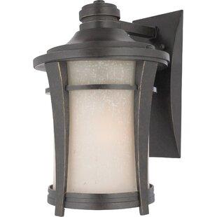 Price comparison Pinehurst 1-Light Outdoor Wall Lantern By Loon Peak