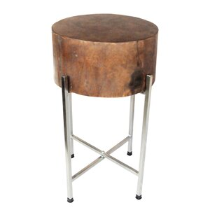 Wood Block End Table by Foreign Affairs Home Decor