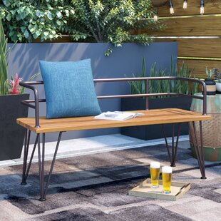 Pleasant Guyapi Outdoor Wood Garden Bench Ncnpc Chair Design For Home Ncnpcorg