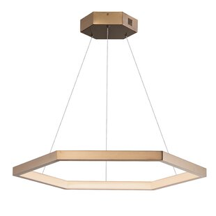 Ramsgate 1-Light LED Geometric Pendant by Everly Quinn