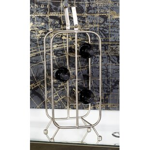 Metal 8 Bottle Tabletop Wine Bottle Rack ..