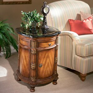 Kadine Drum End Table by Astoria Grand