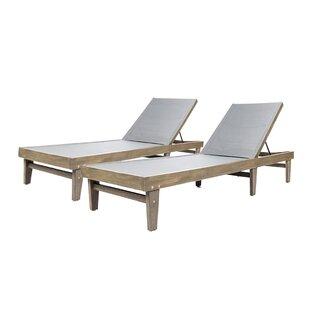 Dereham Outdoor Reclining Chaise Lounge Set Of 2