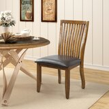 Boucher Tufted Upholstered Slat Back Side Chair in Brown (Set of 2) by Gracie Oaks