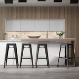 Petrone Bar & Counter Stool (Set of 4) by 17 Stories