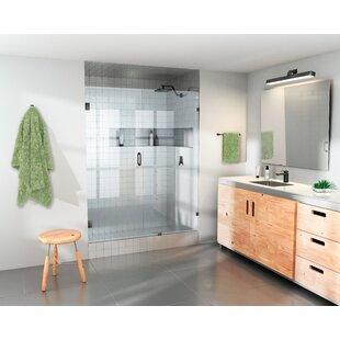 Find a 57 x 78 Hinged Frameless Shower Door ByGlass Warehouse