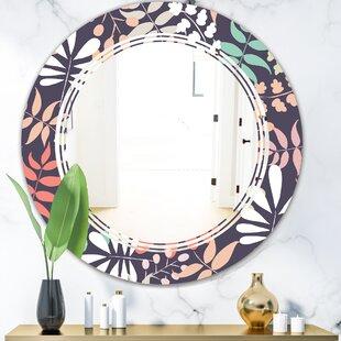 Botanical Pattern II Triple C Cottage Americana Frameless Wall Mirror by East Urban Home