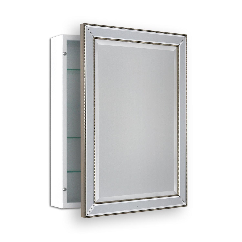 Winston Porter Maiorano 22 X 30 Surface Mount Framed Medicine Cabinet With 3 Adjule Shelves Reviews Wayfair