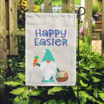 Flags Galore Decor And More Happy Easter Truck 2 Sided Polyester 18 X 12 In Garden Flag Wayfair