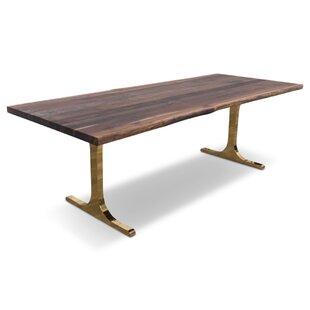 Eco Solid Walnut Slab Dining Table by ModShop