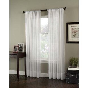 Soho Voile Solid Semi-Sheer Rod pocket Single Curtain Panel by Curtainworks