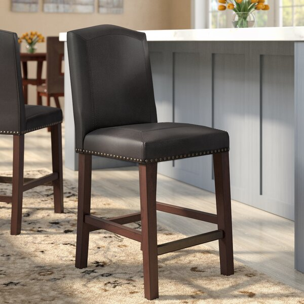d7401e440d7a Elmo Bonded Leather Bar Stool | Wayfair