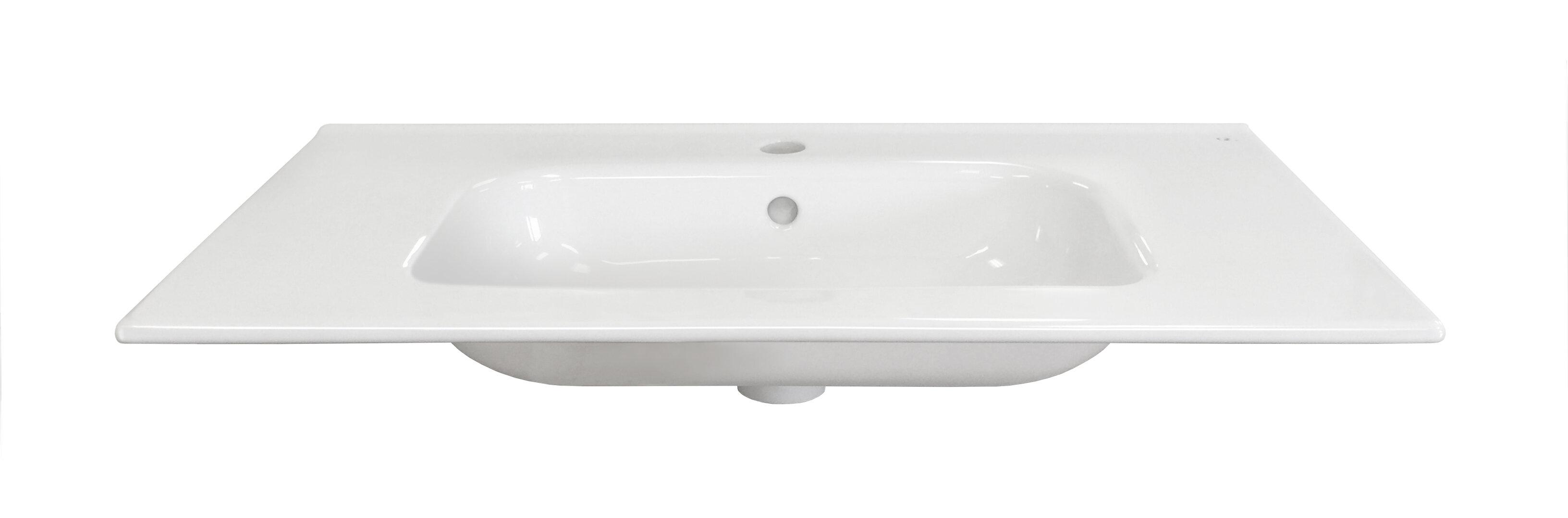 Dawn Usa Ceramic 24 Single Bathroom Sink Top Wayfair