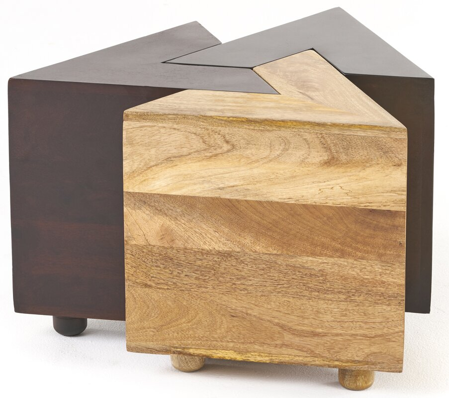 Dirks Wood 3 Piece End Table Set