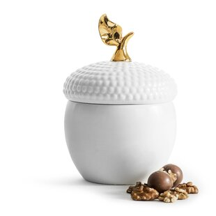 Holiday Acorn Storage Jar