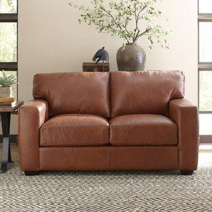 Pratt Leather Loveseat by Birch Lane™ H..