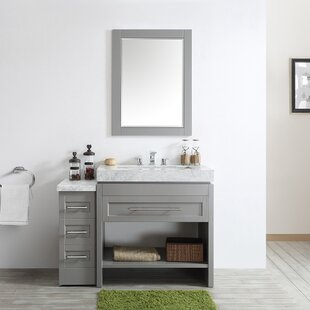 Malt 48 inch  Single Vanity Set with Mirror