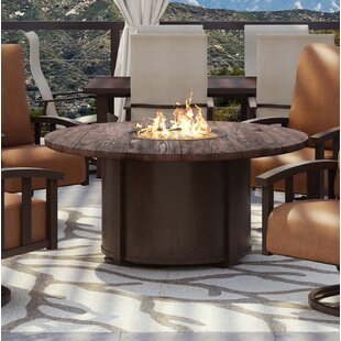 Chat Polyresin Top/Aluminum Base Propane Gas Fire Pit by Homecrest Outdoor Living Reviews
