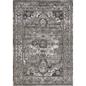 Anouk Charcoal Gray Area Rug